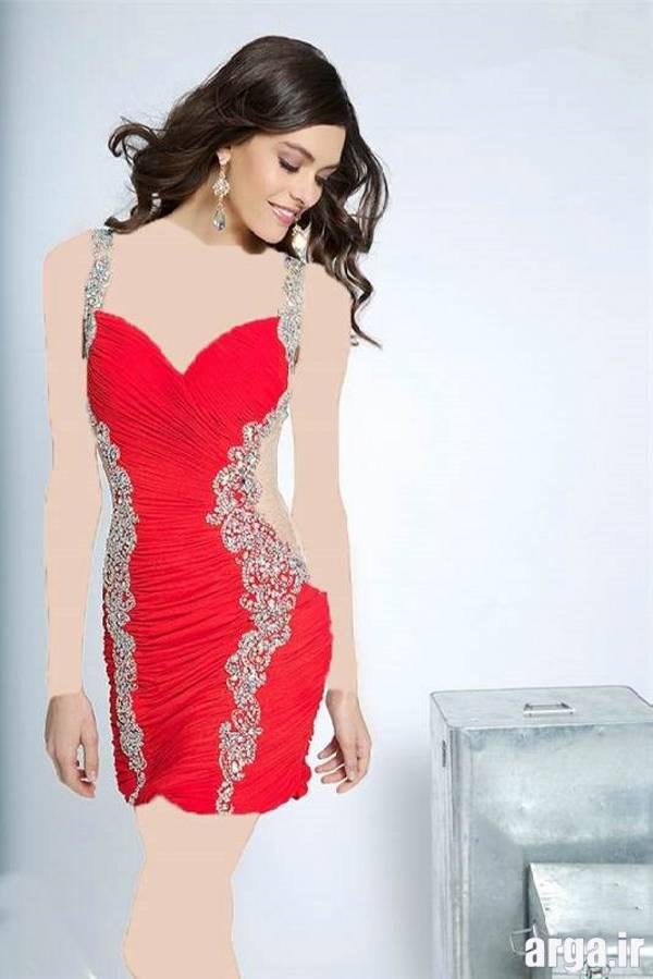 مدل لباس مجلسی قرمز جدید و باکلاس