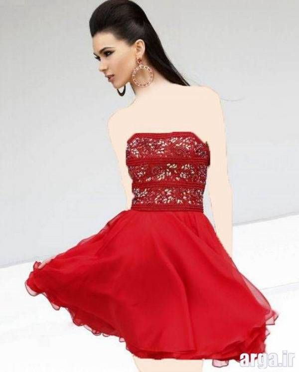 لباس مجلسی قرمز زیبا