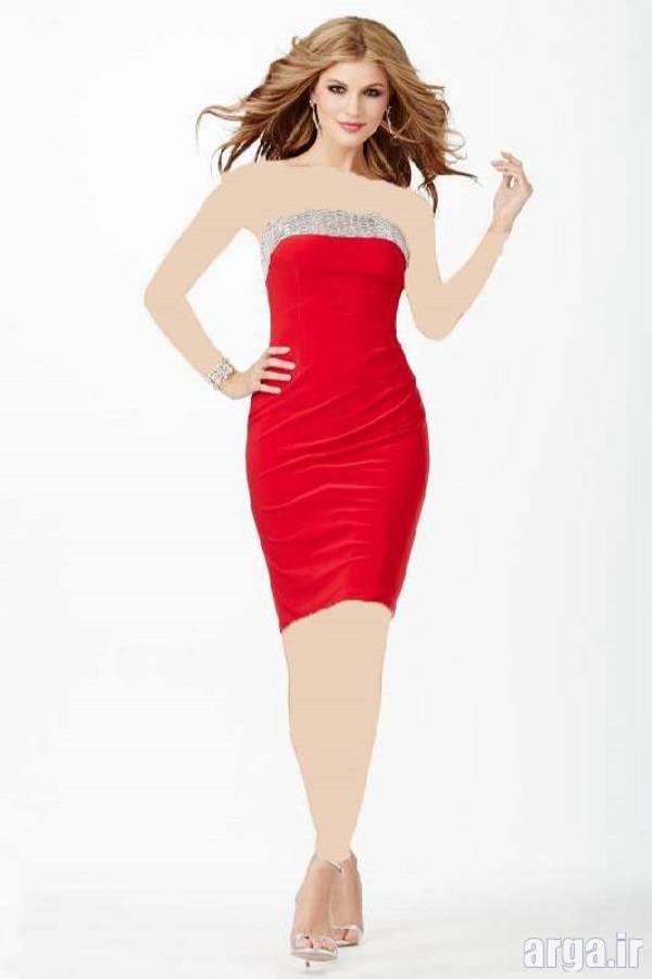 لباس مجلسی قرمز زیبا و جدید