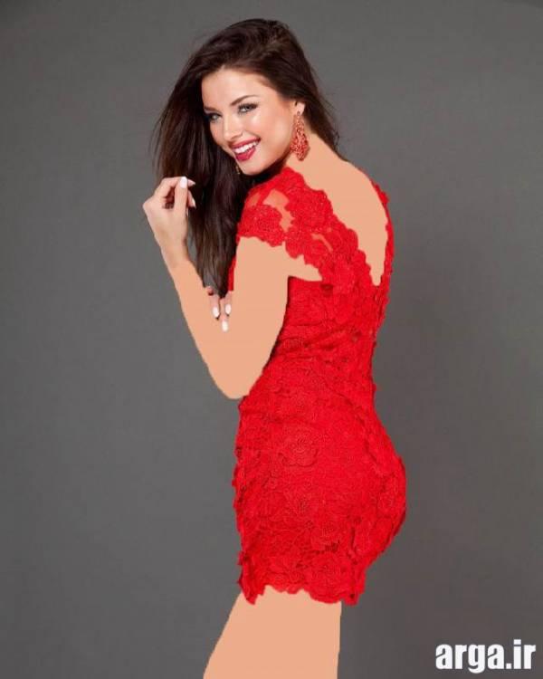 لباس مجلسی قرمز زیبا و مدرن