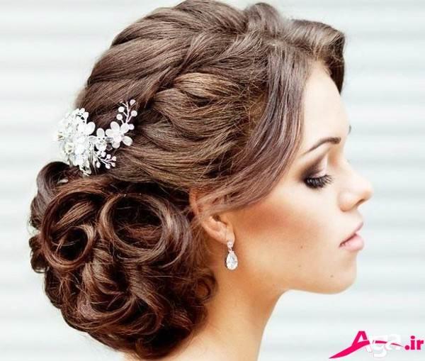 آرایش شیک موی عروس