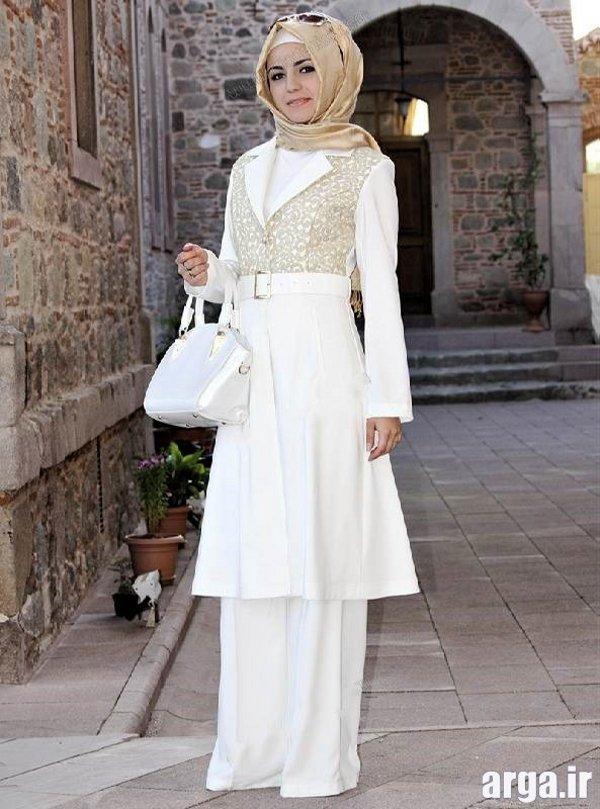 مدل مانتو سفید زیبا