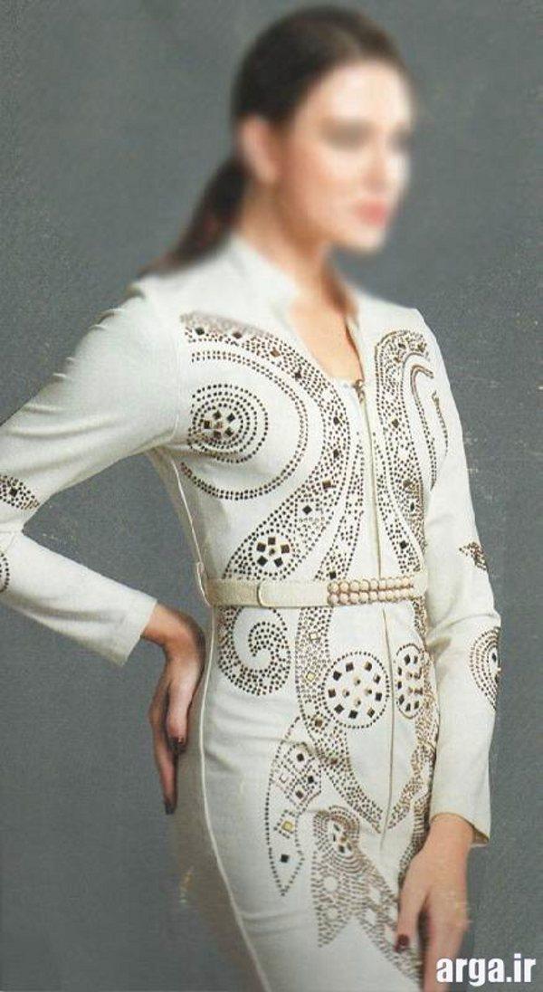 مانتو سفید جذاب و مدرن