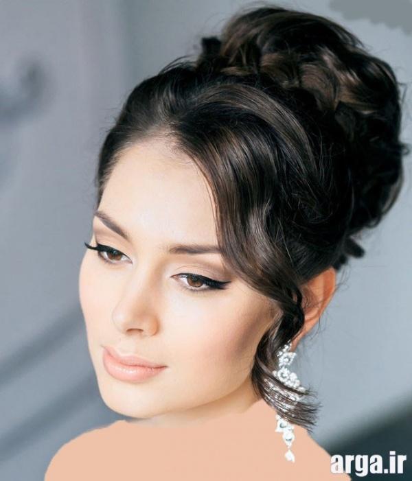مدل موی عروس مشکی ساده