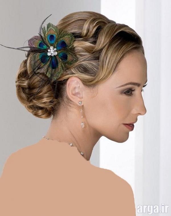 یک مدل فوق العاده ساده و جذاب موی عروس