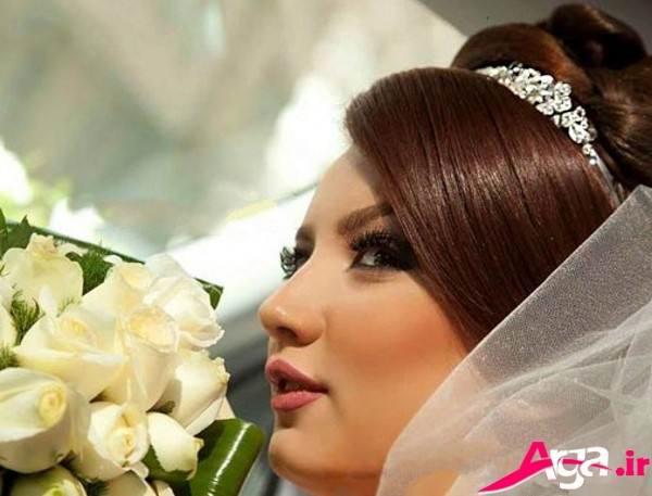 آرایش صورت مدرن و جذاب عروس