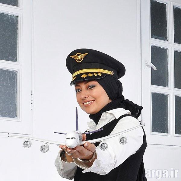 تیپ مهمانداری هواپیما نفیسه