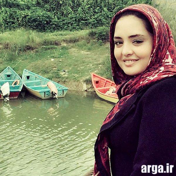 نرگس محمدی در رودخانه