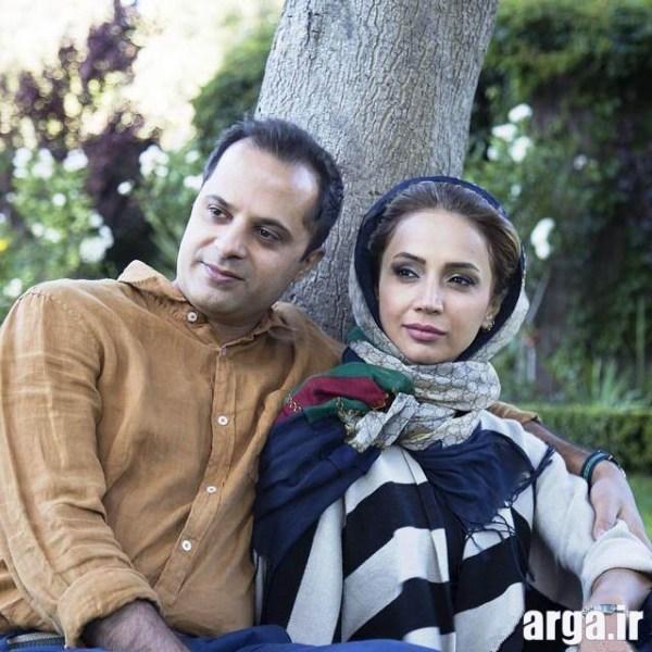 تصویری از شبنم قلی خانی و همسرش