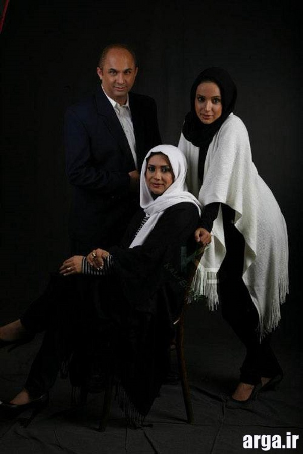 قلی خانی با خواهر و برادرش