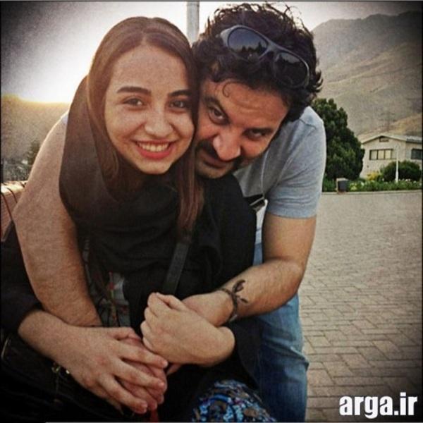 مهراب قاسم خانی و دخترش در عکس شقایق