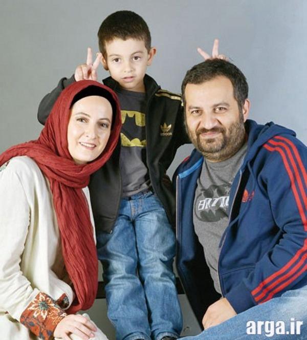 شقایق دهقان درکنار همسر و پسرش