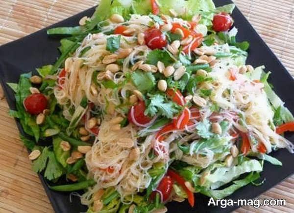 تصاویری از تزیینات سالاد سبزیجات
