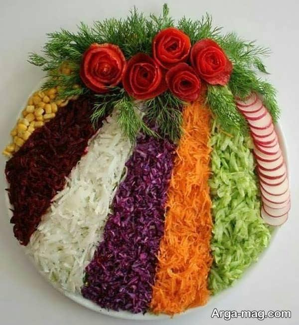 تزییناتی زیبا برای سالاد کاهو
