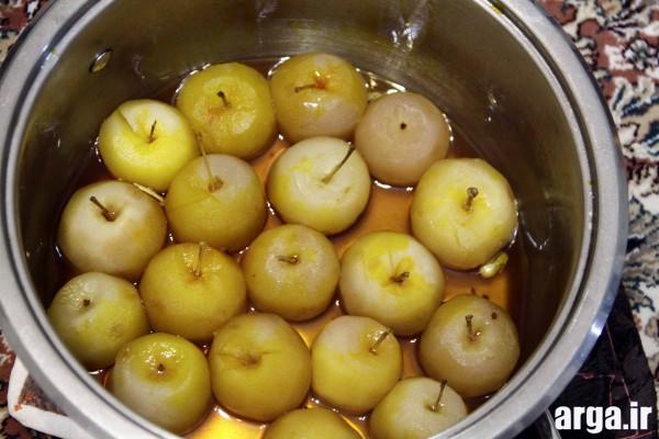 روش پخت کمپوت سیب