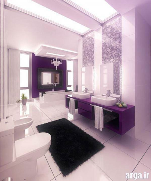 حمام بنفش