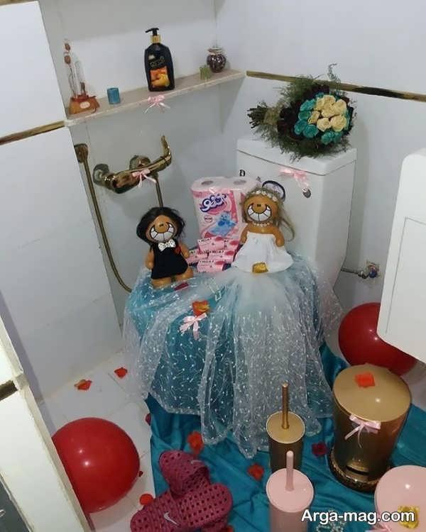 تزیینات زیبا و جدید حمام عروس