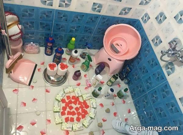 مدل تزیینات حمام عروس