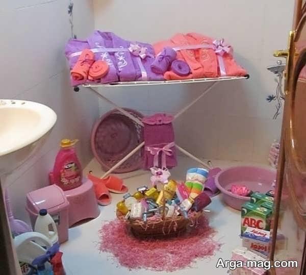 تصاویری از تزیینات حمام عروس