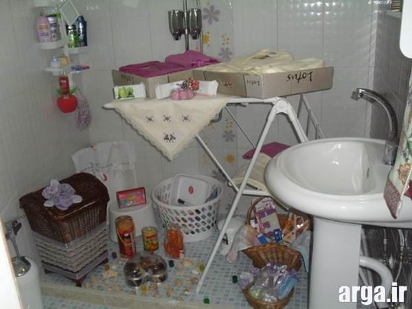 تزیین وسایل حمام عروس