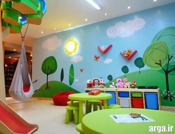 تزیین دیوار اتاق کودک فانتزی