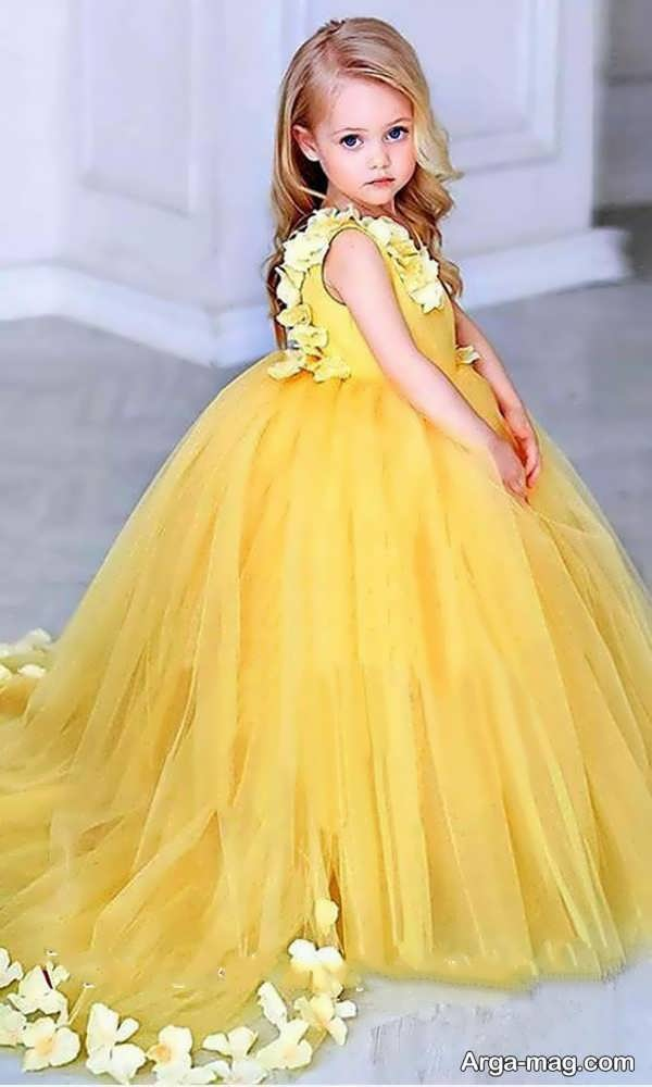 تصاویری از لباس عروسی رنگی