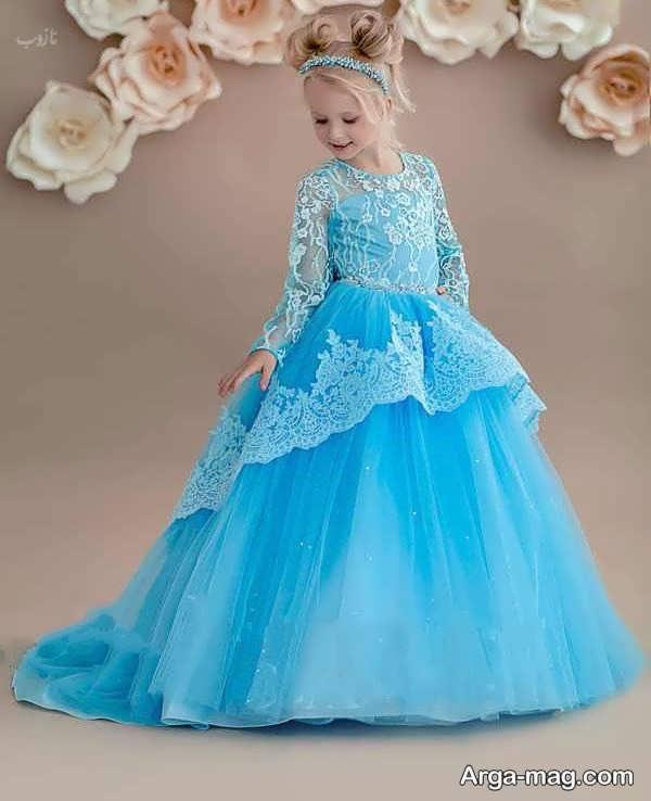 لباس عروسی رنگی بچگانه