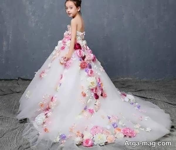 لباس عروس رنگی کودکانه