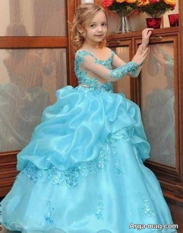 لباس عروسی رنگی پف دار