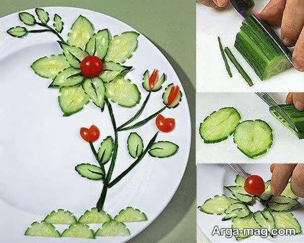 ایده باحال برای میوه آرایی خیار