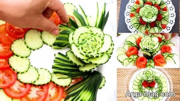 تزیینات خیار به شکل گل