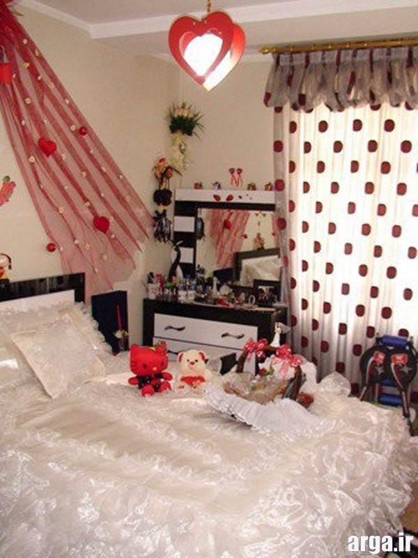 تزیین اتاق خواب فانتزی عروس