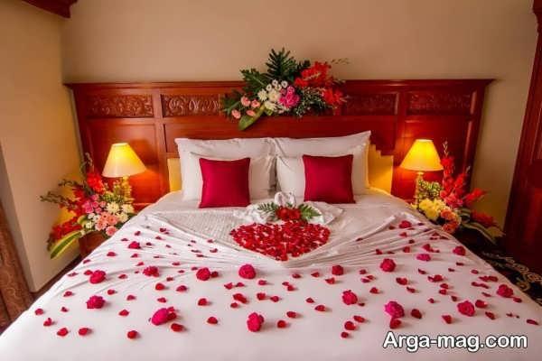 تزیین اتاق خواب عروس رمانتیک