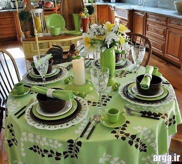 تزیین میز ناهار خوری جدید