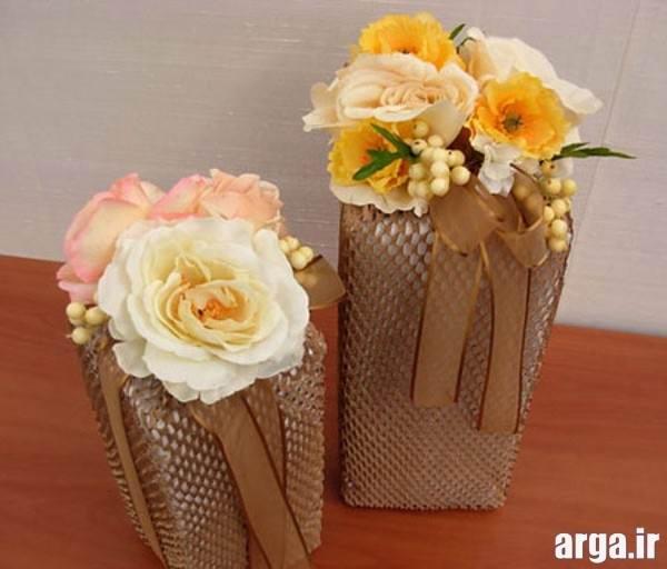 تزیین جعبه هدیه با گل
