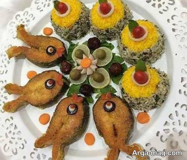 مدل تزیین ماهی