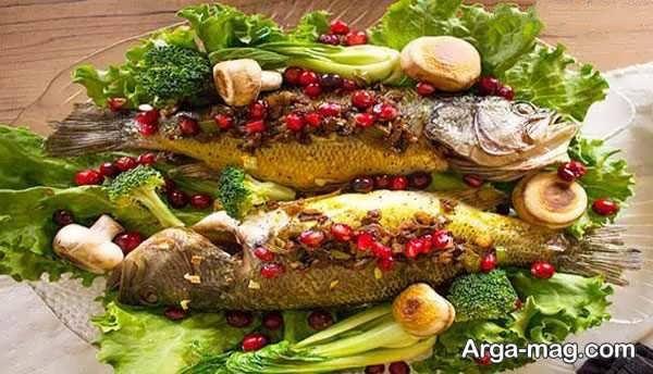 تزیینات ماهی با سبزیجات