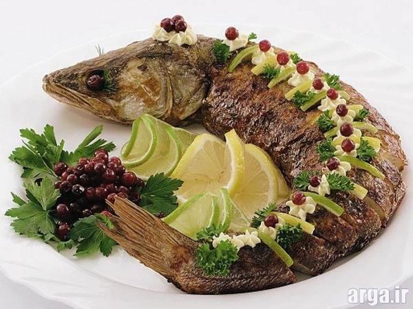 تزیین غذا با ماهی