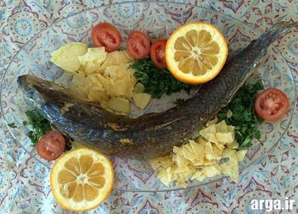 تزیین غذای دریایی