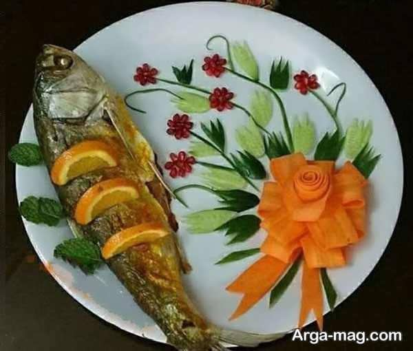 تزیین ماهی با گارنیش