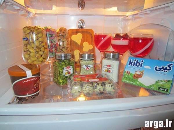 چیدمان یخچال عروس