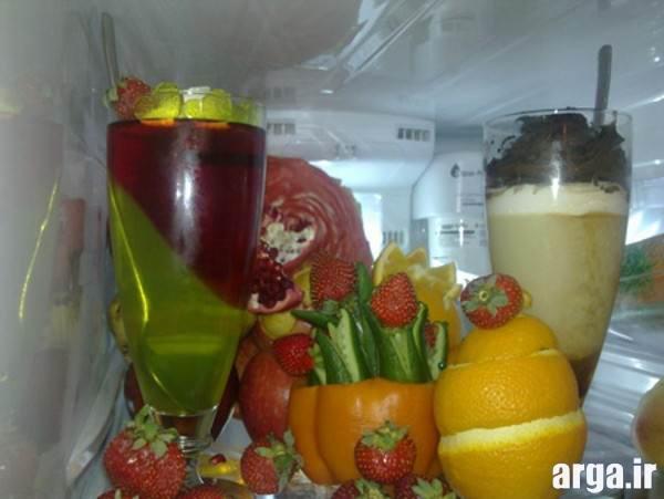 تزیین میوه یخچال عروس