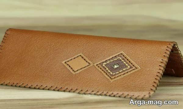 مدل خاص کیف پول چرمی دست دوز