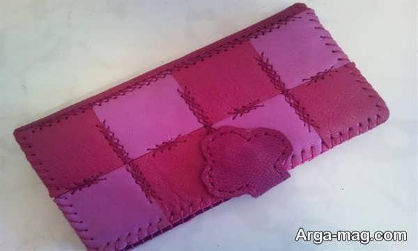 مدل زیبای کیف پول چرمی دست دوز