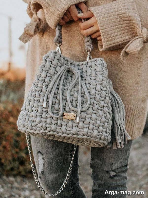 کیف بافت دوشی و زیبا