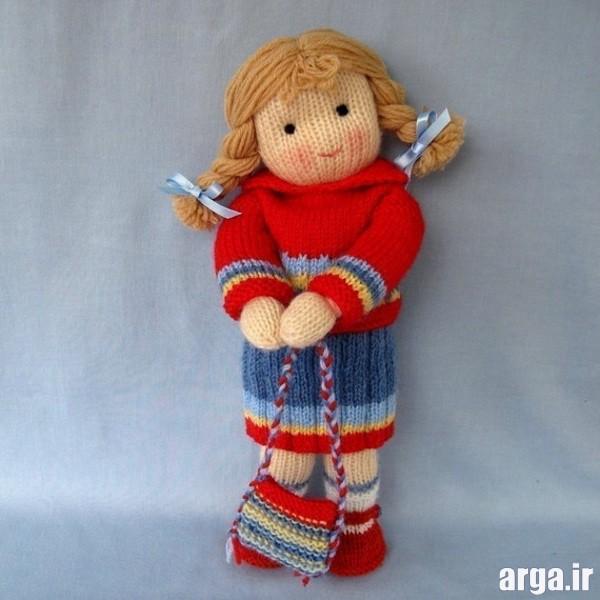 عروسک بافتنی دخترانه