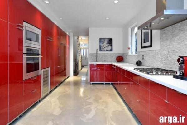 مدل آشپزخانه قرمز