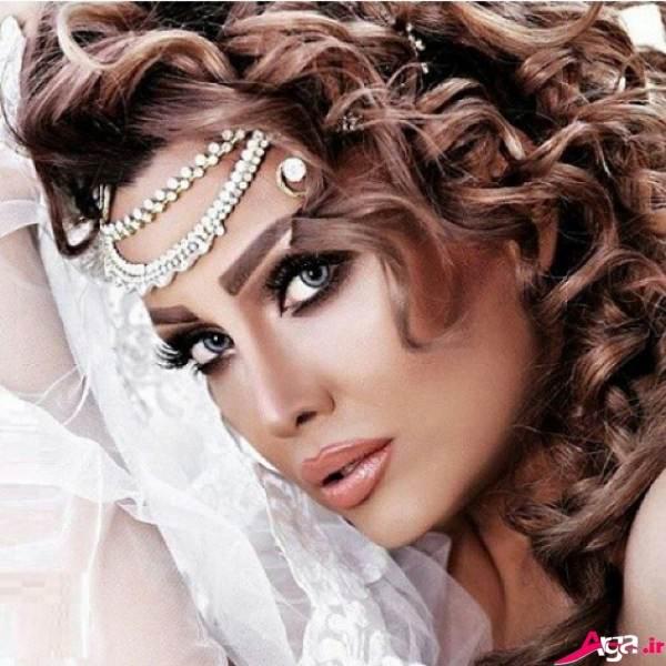 آرایش صورت مدرن عروس