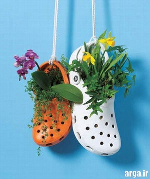 ساخت گلدان خلاقانه