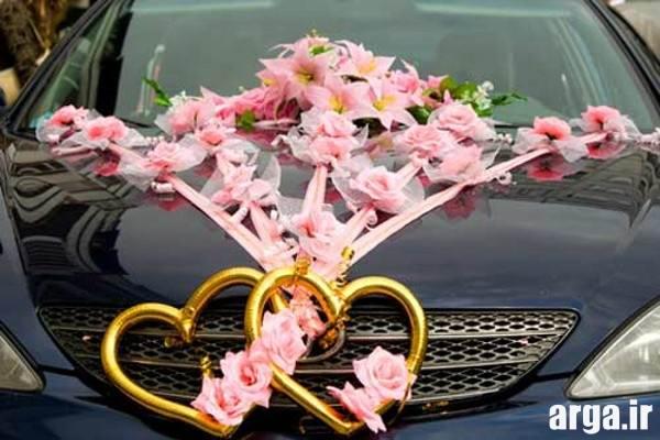 تزیینات ماشین عروس با گل